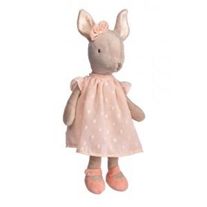 Plyšový sob Sweet Dalia v marhuľových šatách 25 cm Bukowski design 33697