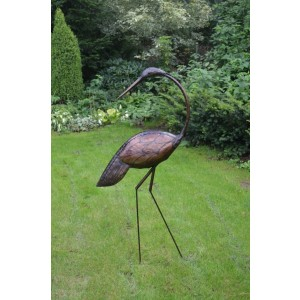 Vták kovový hlava otočená 150cm 26766