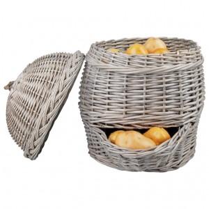 Prútený košík na zemiaky 35,2x46,5x44,8 cm Esschert design