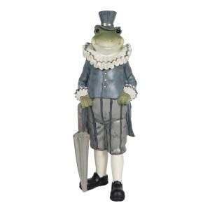 Romantický žabiak v nohaviciacha vo fraku s dáždnikom 9x9x27 cm Clayre-Eef 33231