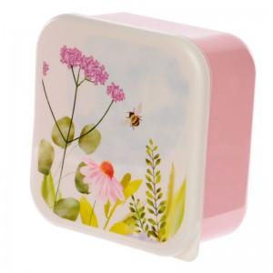 Sada 3 obedových dóz LunchBox XL, L a M so vzorom lúčnych kvetov Puckator 34667