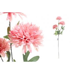 Konár chryzantémy - ružové, 70cm 31916