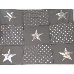 Sivá deka s hviezdičkami 150x200 cm 22377