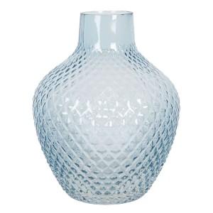 Sklenená guľatá modrá váza Ø 16x20 cm Clayre-Eef 33305