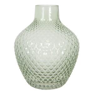 Sklenená guľatá zelená váza Ø 21x25 cm Clayre-Eef 33307