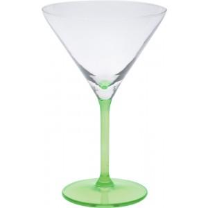 Sklenený koktailový pohár na stopke v zelenej farbe 260 ml 35079