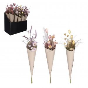 Kytica purpurových kvetov v kornútku 34135