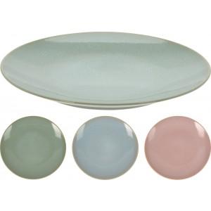 Tanier z kameniny plytký v troch farebných prevedeniach 28 x 3 cm 35111