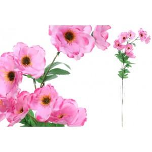 Mak - konár ružový 65cm 31499