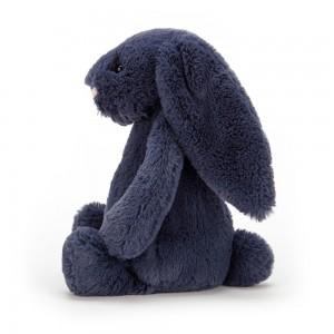 Tmavomodrý plyšový zajačik Jellycat Bashful Navy Bunny 31 cm 33486
