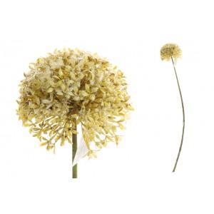 Umelý cesnakový kvet žltej farby na stonke 66 cm 35195