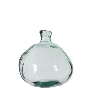 Sklenená váza priehľadná so zaujímavým tvarom 34144