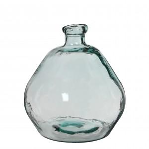 Sklenená váza priehľadná so zaujímavým tvarom 34145