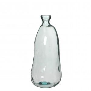 Sklenená váza priehľadná so zaujímavým tvarom 34146