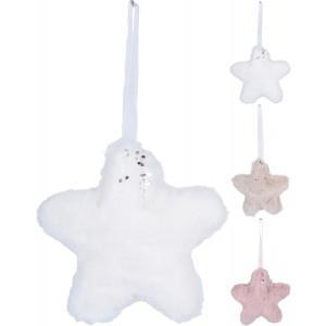 Vianočná ozdoba, látková - hviezda 31769