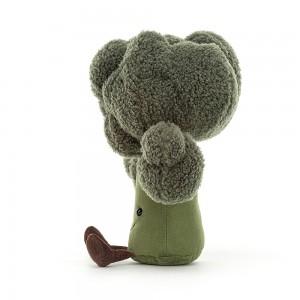 Zábavná zelená plyšová brokolica s hustým účesom zelenej farby Jellycat Amuseable Broccoli 23 cm 35370