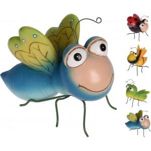 Záhradná dekorácia z polystonu hmyz - lienka, včela, koník alebo chrobák s kovovými nožkami 33423