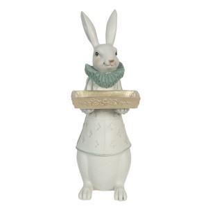 Zajac dievča s táckou v ruke polyresin Clayre-Eef 15x13x37 cm 33249