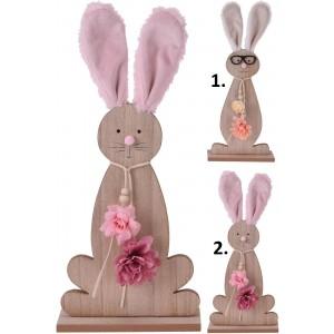 Zajac veľkonočný drevený na drevenom podstavci v dvoch variantoch 35 cm 35091