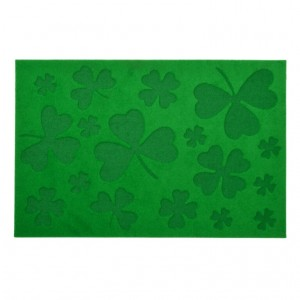 Rohožka zelená ďatelina Esschert design 59,8x39,8x0,6cm